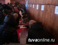 На границе России и Монголии в селе Хандагайты (Тува) активно проходит голосование за Президента РФ