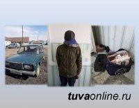 Сотрудниками полиции села Тээли задержан подозреваемый, совершивший 4 преступления в одну ночь