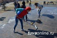 Почти 700 человек в День местного самоуправления в столице Тувы приняли участие в акции «Отмоем Кызыл!»
