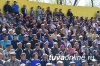 Айдын Отчурчап второй год подряд выигрывает престижный турнир по борьбе хуреш, посвященный 9 мая