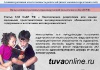 МВД Тувы напоминает родителям об административной ответственности за ненадлежащее воспитание несовершеннолетних детей