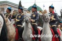 Впервые тувинский Духовой оркестр проедет по всему Кызылу верхом!