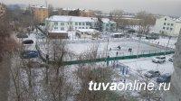 В Кызыле идет заливка дворовых катков