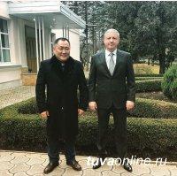 Глава Тувы Шолбан Кара-оол посетил Владикавказ