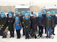16 школьников Тувы уехали на Кремлевскую елку в Москву