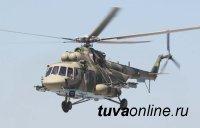 """Вертолеты Ми-8 """"Терминатор"""" прикрыли с воздуха горных стрелков на учениях под Кызылом"""