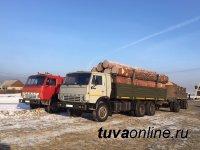 В Туве госавтоинспекторы выявили факты перевозки делового леса без соответствующих документов