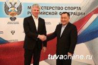Глава Тувы и министр спорта России согласовали действия по завершению строительства спортивно-культурного центра в поселке Каа-Хем