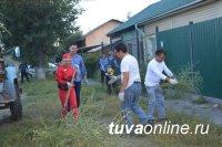 Кызыл: На улице Героя Советского Союза Хомушку Чургуй-оола скосили бурьян