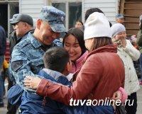 Сводный отряд полиции Тувы отправился в служебную командировку в Северо-Кавказский регион