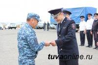 Сводный отряд полиции Тувы вернулся из полугодовой командировки на Северный Кавказ