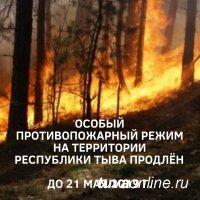 В Туве до 21 мая продлен особый противопожарный режим