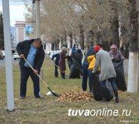 В Кызыле весенний субботник продлен до 31 мая. Следующая акция пройдет 15-16 мая