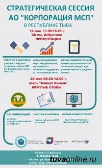 18-20 мая Республика Тыва проведет уникальное мероприятие – стратегическую сессию АО «Корпорация МСП»
