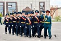 Последний звонок прозвучал для 41 кадета первого выпуска Кызылского президентского кадетского училища