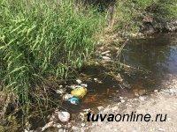 Кызыл: День охраны природы депутаты городского хурала отметили уборкой от мусора природного чуда – реки Донмас-суг