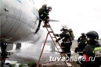 В Туве прошли учения по отработке действий при аварийной посадке самолета