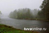 В Туве продолжатся дожди, в связи, с чем прогнозируется повышение уровня воды в реках