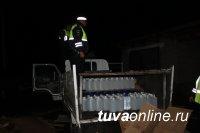 В Барун-Хемчикском районе сотрудники полиции изъяли из незаконного оборота более  400 литров алкогольной продукции