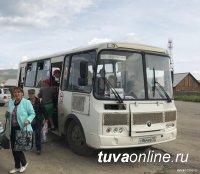 Кызыл: По просьбам жителей маршрут автобуса, следующего на Вавилинский затон, проходит теперь в глубине дачных обществ