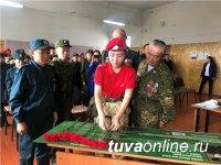 В школе села Эрзин установлена первая в Туве парта Героя - Монгун-оола Чула, погибшего в спецоперации в Чечне в 1995 году