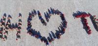 В Туве юнармейцы устроили флешмоб, чтобы поздравить Путина с днем рождения