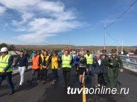В Кызыле открыто движение по новому мосту через Енисей