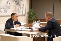 Глава Тувы Шолбан Кара-оол обсудил заморозку цен на уголь с Гендиректором En+ Group Владимиром Кирюхиным