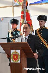 В Туве четвертую годовщину отметила 55-я мотострелковая бригада