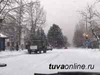 Тува: Разгулявшаяся стихия обрушила на территорию республики месячную норму снега