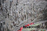 В Кызыле открыли памятник «Кызыл кош» - Красный обоз - в память о трудовом подвиге тувинского народа в годы войны