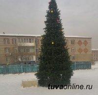 В Кызыле неизвестные дикари оставили без ледового городка жителей Правого берега