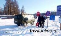 Тоджинскую переправу, где нарастили лед, снова запустили в эксплуатацию