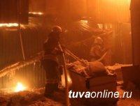 В сгоревшем банкетном зале в Кызыле нашли два трупа