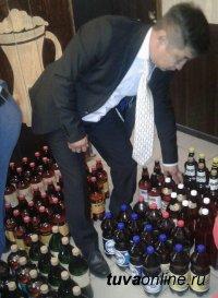 В Туве Росспиртром принял на хранение 258 литров нелегального алкоголя