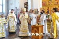 Уставные богослужения Страстной седмицы совершены в храмах Кызыльской епархии