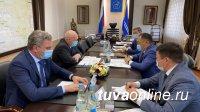 Глава Тувы Шолбан Кара-оол встретился с новым руководителем управления автомобильных дорог «Енисей»