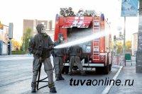 В Туве с 8 по 20 мая продезинфицировали от COVID-19 492 тысяч 289 квадратных метров общественных пространств