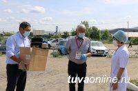 Медикам Тувы передали более 600 продуктовых наборов