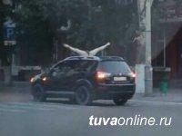 Жителей Кызыла возмутил вульгарный танец девушки на крыше авто