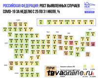 Сразу два региона Сибири вошли в общероссийский ТОП-3 территорий с самым большим процентом прироста заболевших COVID-19 за неделю