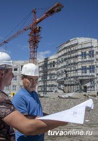 На Левобережных дачах Кызыла кипит строительство новой школы. Выполнено 70% работ