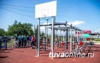 Тува. В селе Сукпак открылся тренажерный зал под открытым небом