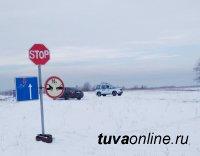 Три ледовых переправы работают в Туве