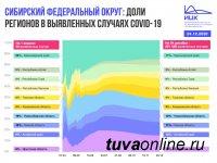 Итоги заболеваемости Covid в Сибири в декабре. Доля Хакасии и Тувы в числе заболевших составила 6%