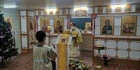 Тува: Владыка Феофан совершил службу Навечерия Рождества Христова в приходе города Пусан