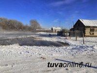 В селе Бай-Тал Бай-Тайгинского района приусадебные участки спасли от подтопления