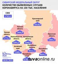 В Туве один из самых высоких в Сибири (после Алтая) показатель переболевших Covid на 100 тысяч населения