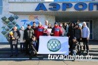 В аэропорту Кызыла встретили победительницу Всероссийских соревнований по боксу среди студентов, второкурсницу ТувГУ Алантос Куулар