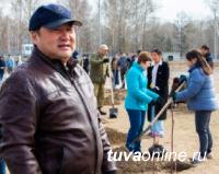 В День всероссийского субботника в Семейном парке Кызыла высажены 100 саженцев рябины